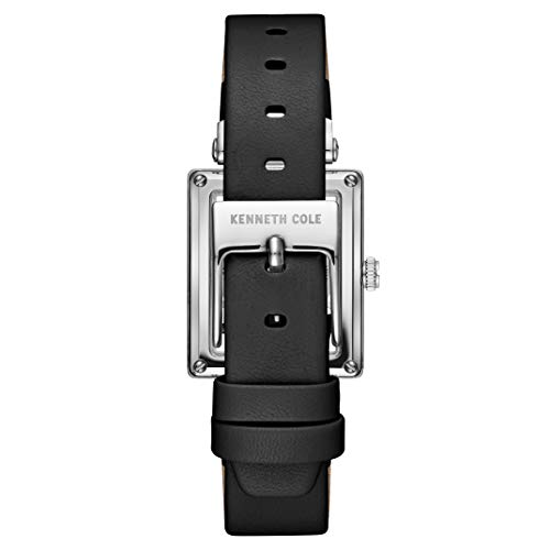 Kenneth Cole New York Female Stainless Steel Quartz Watch with Leather Strap, Black, 15.3 (Model: KC50859001)