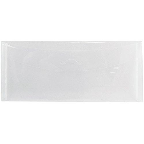 JAM Paper #10 Plastic Business Envelope with Tuck Flap Closure - 4 1/4