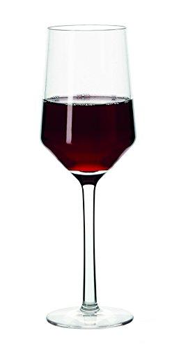- G.E.T. Enterprises SW-1463-PC-CL-EC VIA Break-Resistant Plastic Wine Glasses, Polycarbonate Plastic, Clear (Pack of 4)