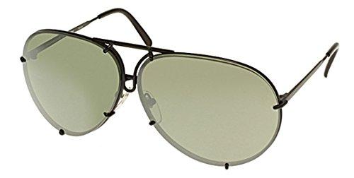 New Porsche Design P 8478 d-v343 (63/10/135)Black/Gray Blue Mercury Silver Mirror - 8478 D Sunglasses