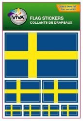 Sweden Country Flag Set of 7 Different Size Collection Decal Stickers ... New in (Sweden Country Flag)