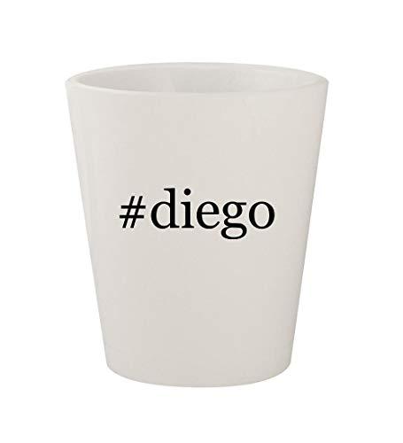 #diego - Ceramic White Hashtag 1.5oz Shot Glass