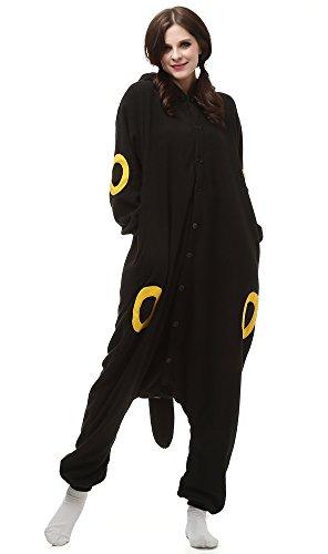 Sayadress Unisex Women Men Animal Costume Pyjama Adorable Hooded Yellow Umbreon Large - Holloween Costumes For Men