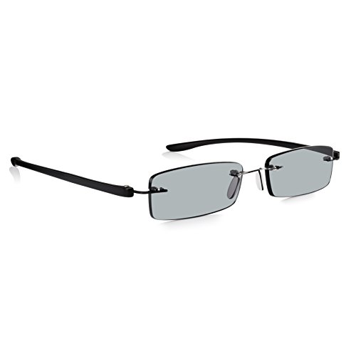 97eb190ffb Read Optics Reading Sunglasses 1.5  Mens Womens Tinted Sun Readers in  Patented SecureLoc Rimless Design Guaranteed for Life. Bendable Black Arms  RayguardTM ...