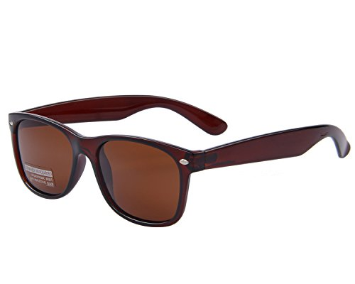MERRYS Retro Rewind Classic Polarized Wayfarer Sunglasses S683 (Brown 53)