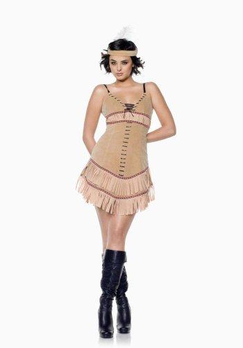 Sassy Squaw Adult Costume - Small/Medium (Squaw Costume)