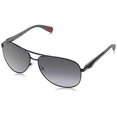 9668d9a65e Prada Linea Rossa Men s PS 51OS Sunglasses Black   Polar Grey Gradient 62mm