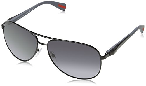 Prada PS51OS Sunglasses 7AX5W1-62 - Black Frame, Polar Grey - Brand Sunglasses Polar