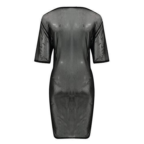Manches Longues Cover Courtes Beach Chemisier Noir Buimin shirt Ajourées Transparentes Et Filett Pour À Femmes En q8Ew1C