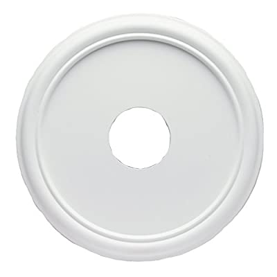 Westinghouse 7773200 16-Inch Smooth White Finish Ceiling Medallion by Westinghouse