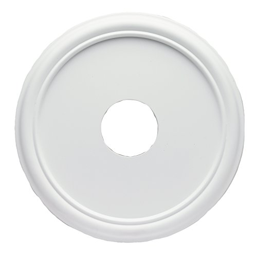 Westinghouse 7773200 16-Inch Smooth White Finish Ceiling Medallion