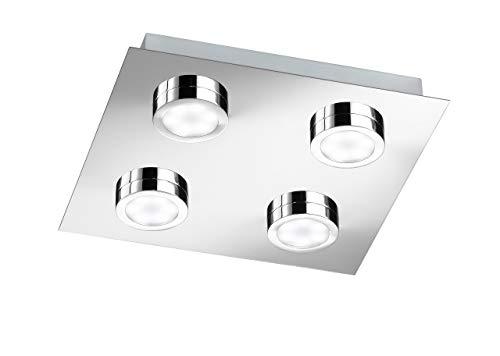 WOFI Plafondlamp SPA-Line, 4-lampen serie Veneta energie-efficiëntieklasse A+ beschermingsklasse IP20, Kelvin 3000…