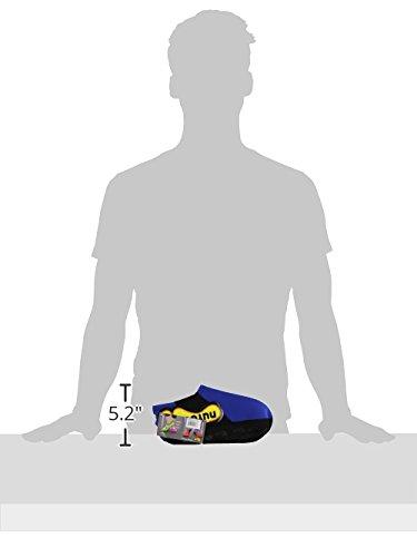 Nufoot Tossor Mens Skor, Bäst Hopfällbar Och Flexibel Skor, Vika Och Gå Resor Skor, Yoga Strumpor, Inomhus Skor, Tofflor, Kunglig Med Svart Rand, Stor