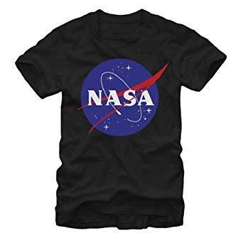 Fifth Sun Nasa Logo Mens Black T-shirt 2XL