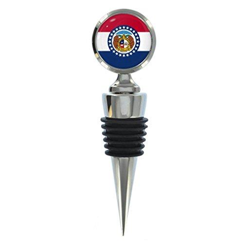 Missouri US State Flag Metal Wine Bottle Stopper