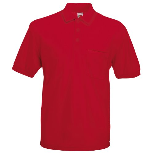 Fruit of the Loom 65/35 Pocket polo Red 2XL