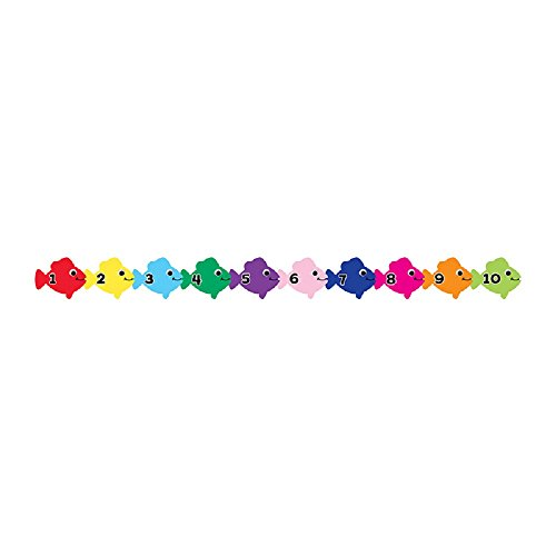 Hygloss Products Counting Fish Die-Cut Bulletin Board Border – Classroom Decoration – 3 x 36 Inch, 12 (Numbers Border)