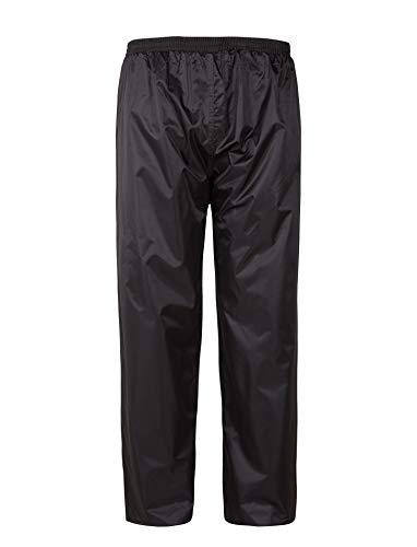 Small Waterproof Pants - GEEK LIGHTING Rain Pant for Men Waterproof Heavy Hooded Rainwear B-Black-Pants S