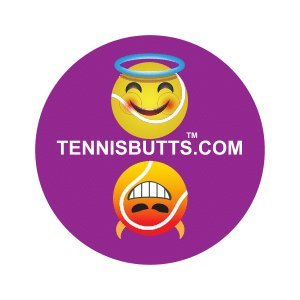 Tennis Butts Fun Racket Decal That Starts Your Match Off with a Laugh! Perfect Tennis Gift (Naughty or (Nice Match)