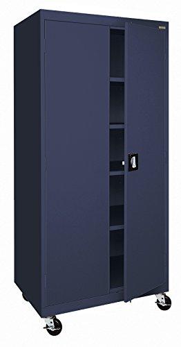 Sandusky Lee TA4R302466-A6 Transport Series Mobile Storage Cabinet, Navy Blue by Sandusky