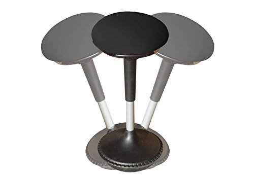 Wobble Stool Adjustable Height Active Sitting Balance Chair for Office Stand Up Desk. Best Tall Swivel Ergonomic Stability Perch Standing Desk Fabric by Uncaged Ergonomics