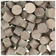Face Grain WIDGETCO 5//16 Walnut Wood Plugs