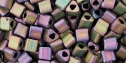 Frosted Metallic Iris Purple Toho Seed Beads Triangle 8/0 (1 (Frosted Metallic Iris)
