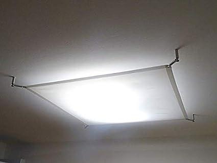 TEXTILES LED LICHTSEGEL 12 W 140x200 LED STUDIO PANEL DECKENLAMPE Hardwareset TEXTILE LIGHT PANEL inkl