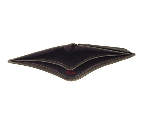 Strellson Blake Monedero piel 10 cm cognac Gris