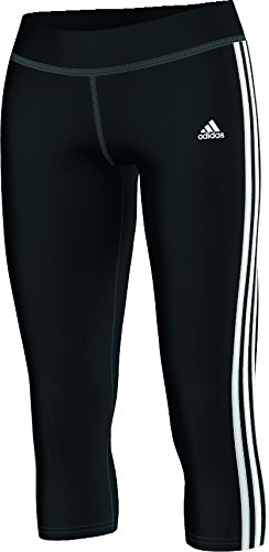 adidas ESS 3S 34 Tight - Pantalón capri para mujer, color negro / blanco, talla XS Negro / Blanco