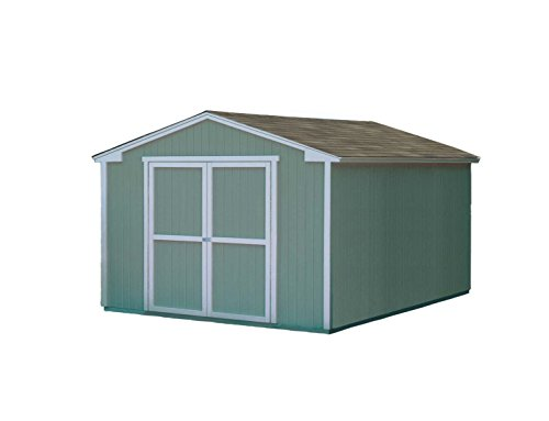 Handy Home Products Cumberland Wooden Storage Shed, 10 by 12-Feet