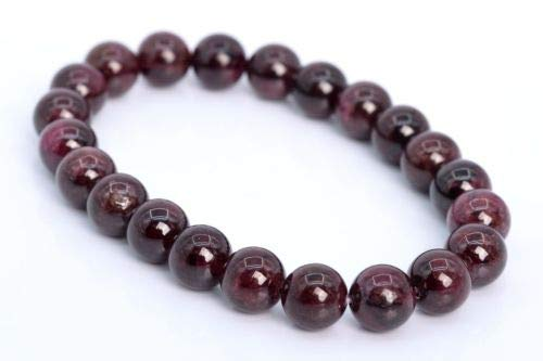 8mm Wine Red Garnet Bracelet Grade Genuine Natural Round Gemstone Beads 7'' Crafting Key Chain Bracelet Necklace Jewelry Accessories Pendants