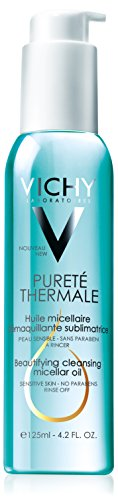 Vichy Pureté Thermale Beautifying Cleansing Micellar Oil Cleanser, 4.2 Fl. Oz. (Oil Purete)