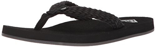 Roxy Women's Porto Sandal Flip-Flop, Black, 8 M US