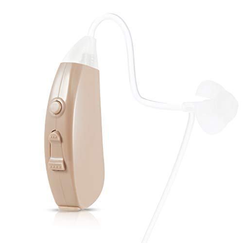 iBstone Hearing Amplifier Vive10 Digital for Adults and Seniors, Easy Operation BTE Hearing Aid to Enhance Hearing with Noise Reduction, FDA Approved Hearing Device Recommended by Audiologist