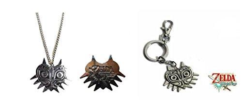 Zelda Majoras Mask Necklace and Keychain Set