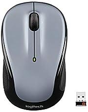 Logitech M325 trådlös mus, 2,4 GHz med USB Unifying-mottagare, 1000 DPI optisk spårning, 18 månaders livslängd, PC/Mac/bärbar dator/Chromebook - Ljuskgrå