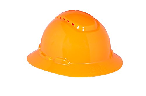 3M Full Brim Hard Hat H-806V, 4-Point Ratchet Suspension, Vented, Orange from 3M Personal Protective Equipment