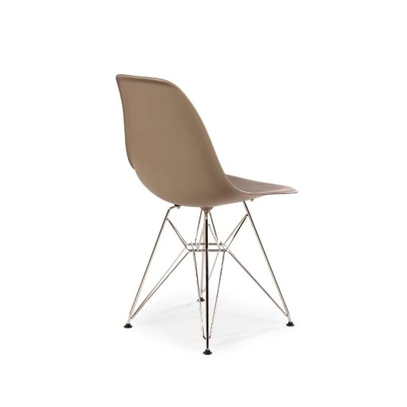 "Stilnovo Mid-Century Eiffel Dining Chair, Grey - 32"" x 21"" x 18.5"" This stylish chair has many uses in the home, office, cafe, reception area, or training room. Set of 2 - kitchen-dining-room-furniture, kitchen-dining-room, kitchen-dining-room-chairs - 31c nU7%2BPHL. SS570  -"