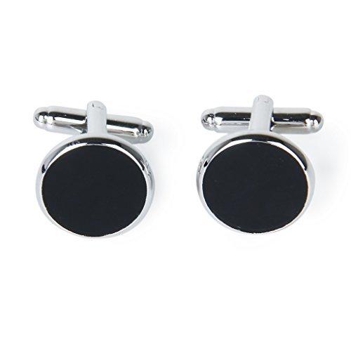 tmodd Hombres redonda de gemelos gemelos de camisa, color plateado y negro