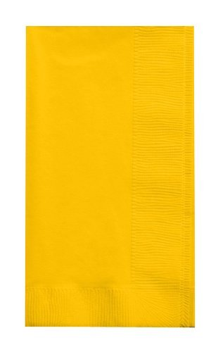 Creative Converting Touch of Color 2-Ply 50 Count Paper Dinner Napkins, School Bus Yellow