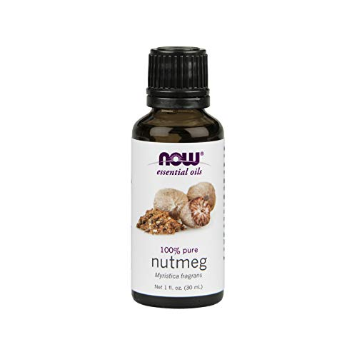 NOW Essential Oils, Nutmeg Oil, Energizing Aromatherapy Scent, Steam Distilled, 100% Pure, Vegan, 1-Ounce