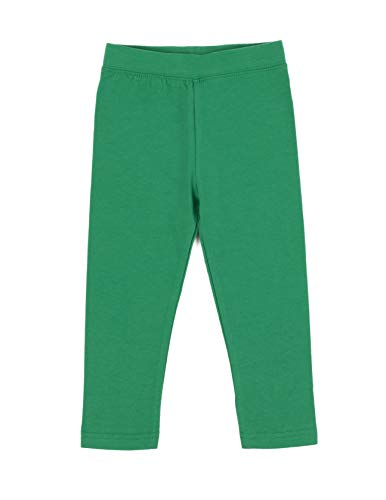 Leveret Kids Solid Girls Leggings Green (Size 3 Years) -