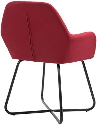 vidaXL Lot de 2 chaises de Salle à Manger en Tissu Bordeaux