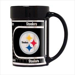 (Pittsburgh Steelers 15 oz Ceramic Coffee Mug with Metallic Graphics)
