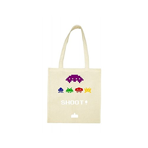 Tote bag beige Tote bag invaders dwFqng
