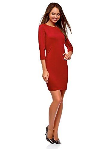 Rouge Robe Femme Ultra oodji clair Moulante Fermeture 4502n vfR7Cwxq