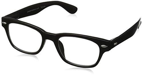 Peepers Rainbow Bright Retro Readers, Black, - Glasses Reading Frames Clear