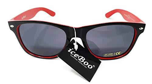 Rojo dos de Retro Wayfarer Espejo Lentes Vintage Classic UV400 Unisex tonos de sol New Gafas 1TRqA16