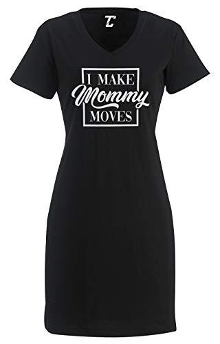 I Make Mommy Moves - Money Funny Song Lyric Women's Nightshirt (Black, Large/X-Large)